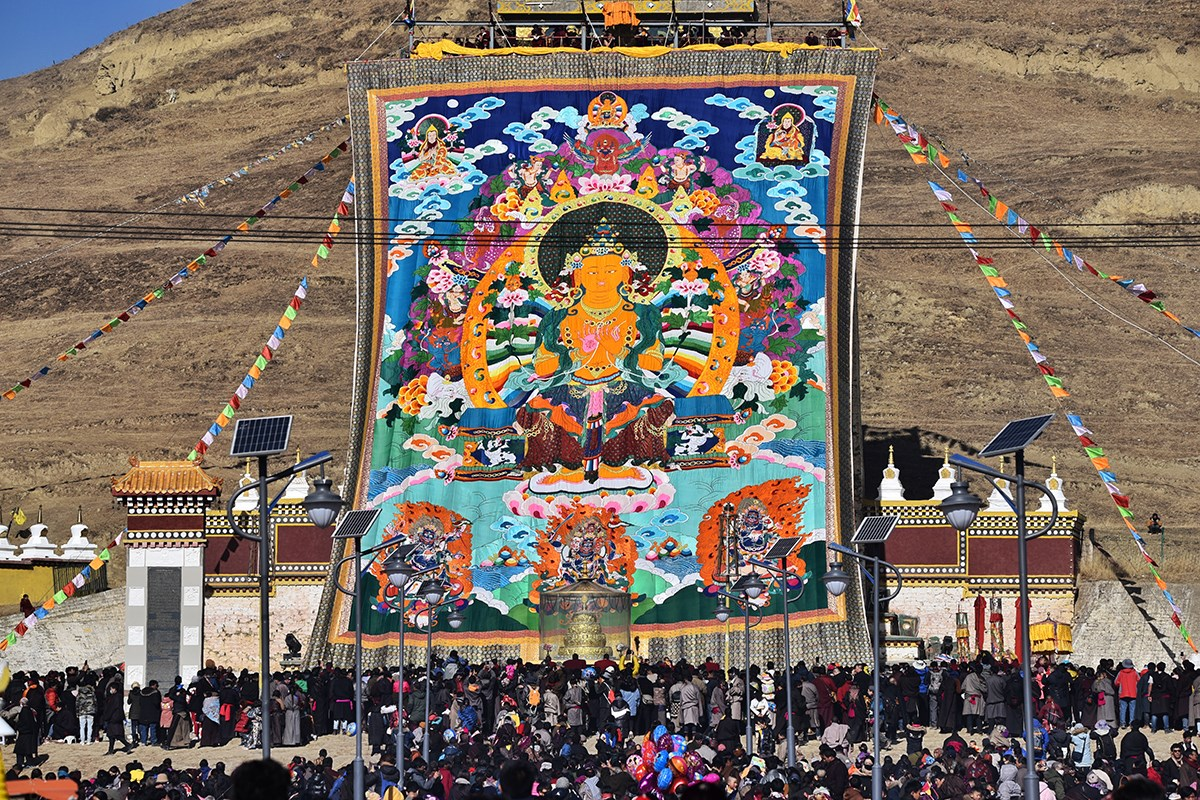 Monlam Festival (Losar, Tibetan New Year) in Aba