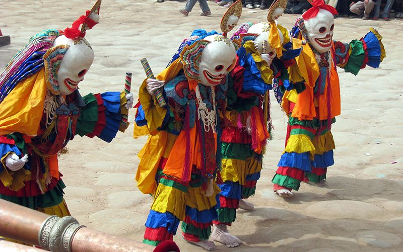 Mask Dance at Gomar Monastery