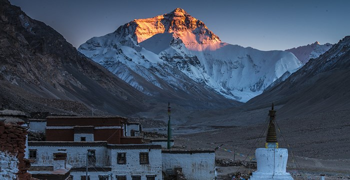 Rongbuk Monastery and Mt. Everest